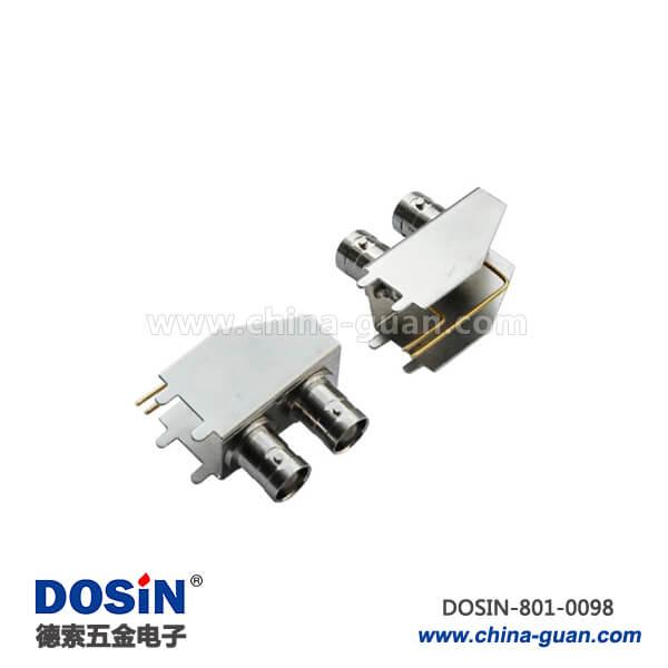 bnc视频接口双头锌合金50欧姆弯式母头射频同轴连接器