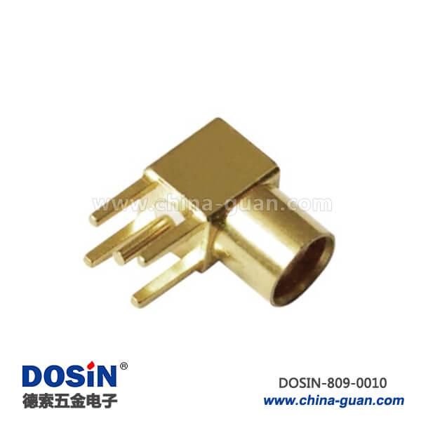 mcx 连接器射频同轴 弯式方形4脚PCB板端插座