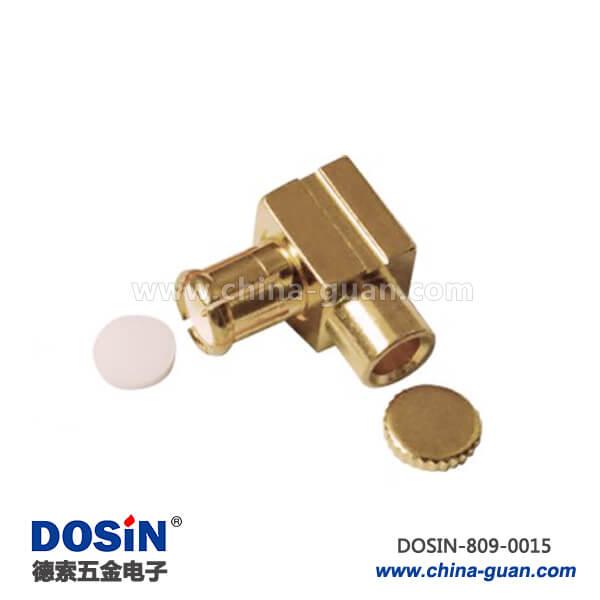 MCX连接器弯式镀金公头射频同轴连接器