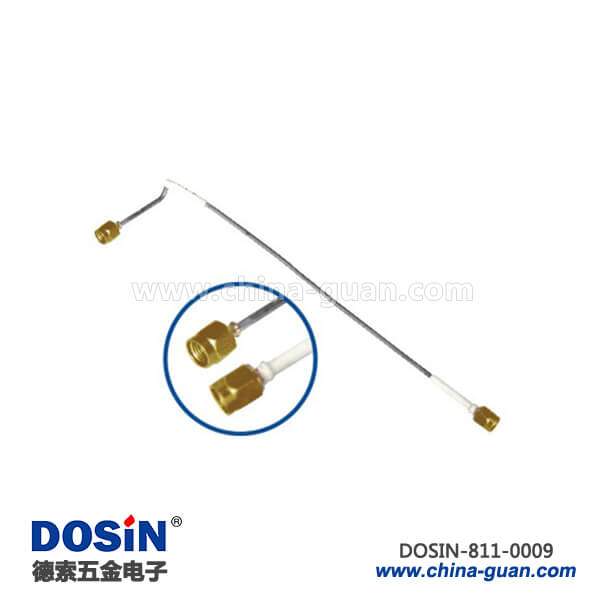 sma公头semi-rigid射频同轴线材接sma公头