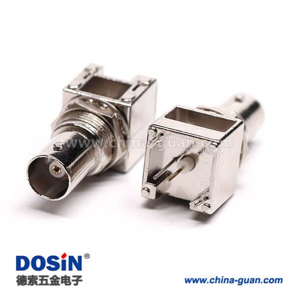 BNC直式射频同轴75欧镀镍面板安装连接器