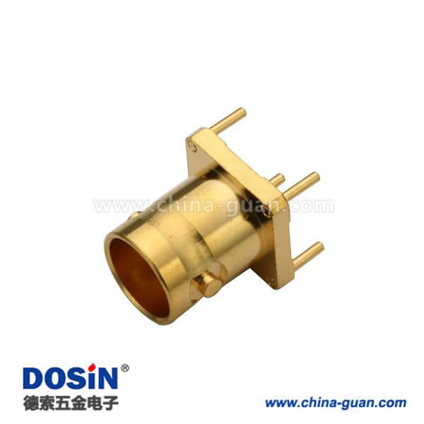 BNC直式母头射频同轴镀金连接器