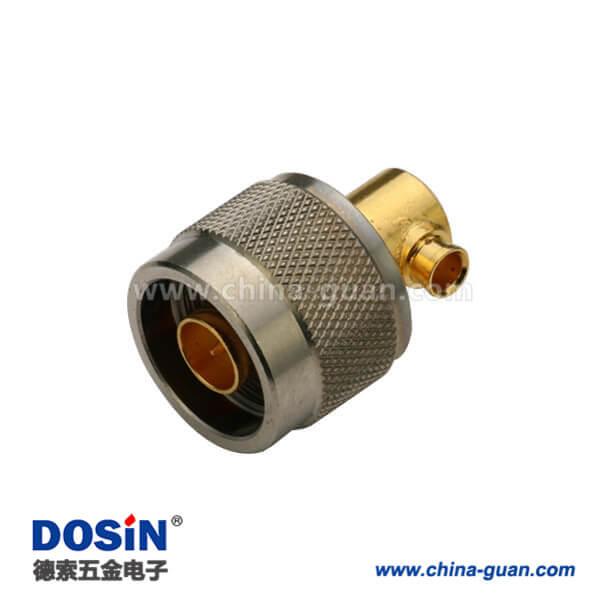 n型接头公头弯式焊接式同轴线缆UT141