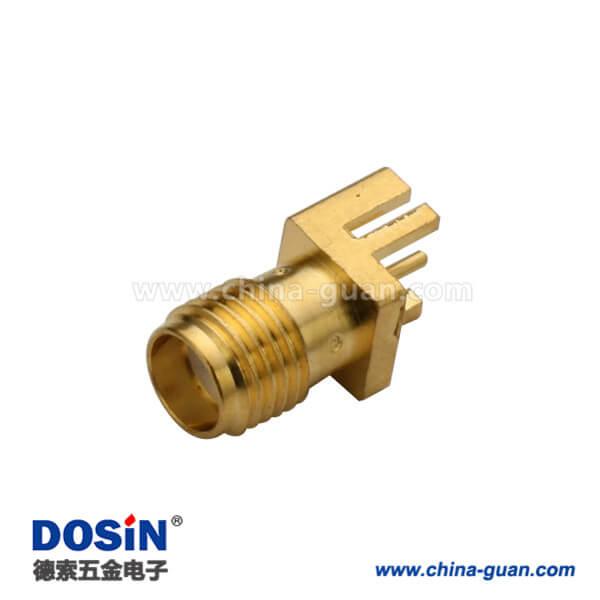 SMA母头直式接1.60mm电路板连接器PCB边缘表贴镀金