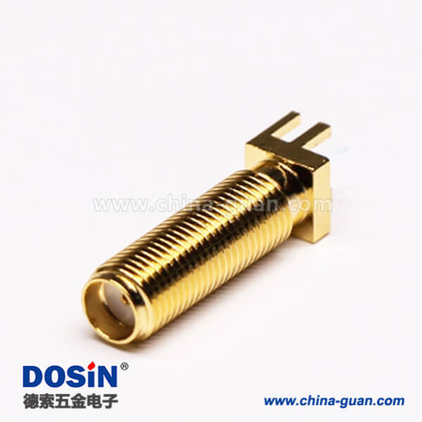 SMA直母座射频同轴连接器螺纹连接插PCB板