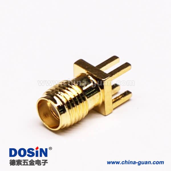 SMA母头直插连接器螺纹连接插板接PCB板