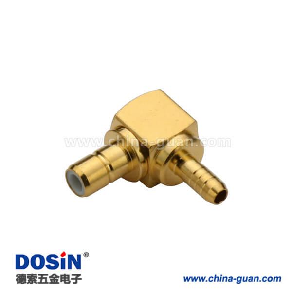 smb连接器母头有线电视连接头弯式压接式线缆RG316
