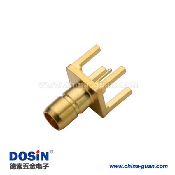 SMB直插镀金母头射频pcb连接器直插连接器