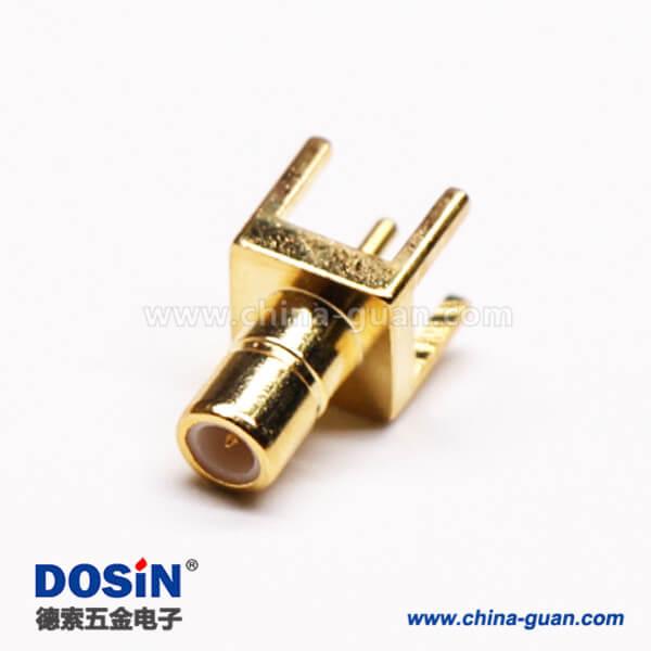 SMB射频同轴连接器插座母头插穿孔接PCB板