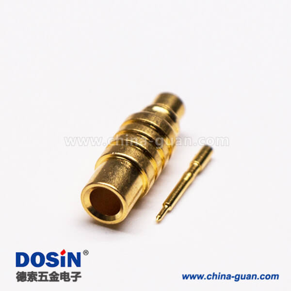 MMCX焊接公头直式接同轴线缆镀金