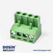 可插拔端子弯式四螺钉插拔式90度端子接线连接器