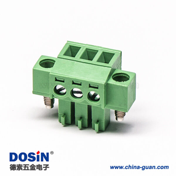 插拔式接线端子接线直式螺母锁紧绿色接线端子