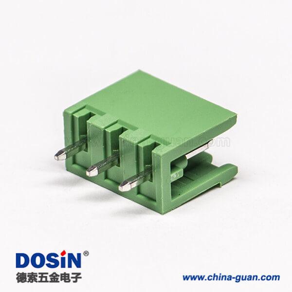 插拔式接线端子排3芯两侧空直式穿孔对接端子插座