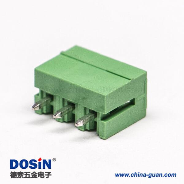 绿色接线端子台对应插针插拔式PCB端子压接接线