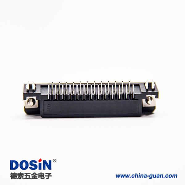 d sub 25pin连接器90度公头铆锁式插板接PCB板