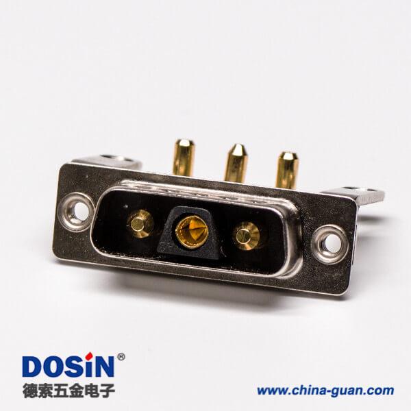 DB型大电流 连接器3V3公座90°焊板 20A支架铆锁接PCB板