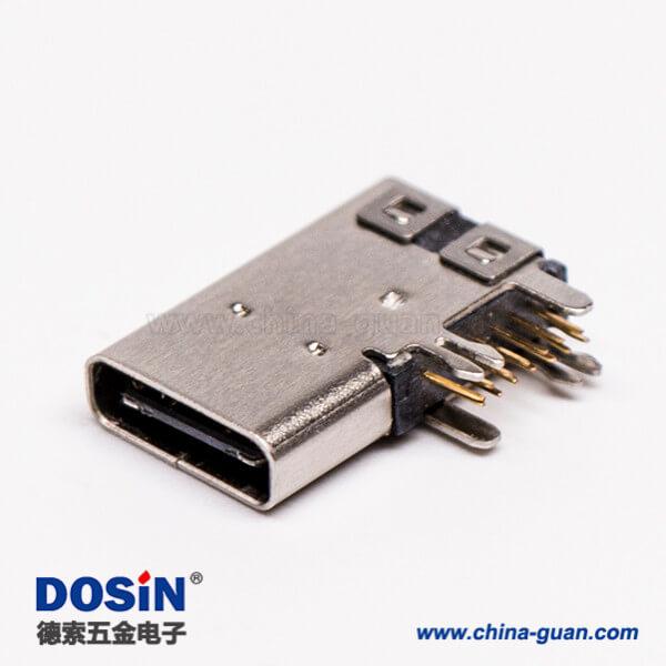 连接器 type-C母头弯式侧插式usb3.0连接器