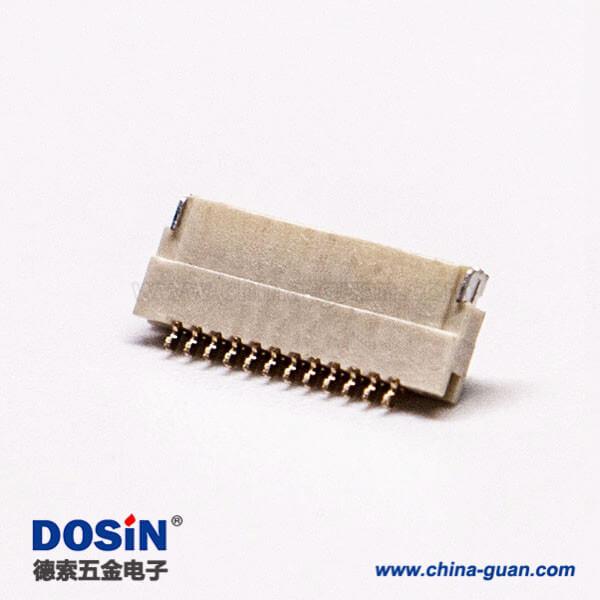 ffc/fpc连接器插座0.5mm前掀盖式下接触1.0H