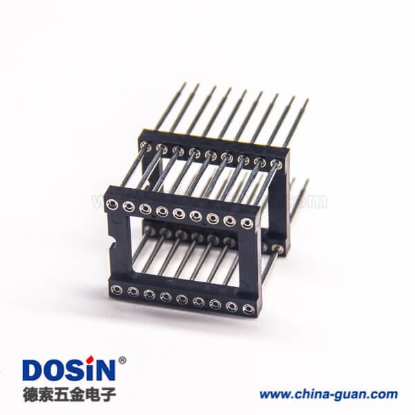 双排双塑插针圆孔直式插板2.54间距塑高3.0mm 10pcs