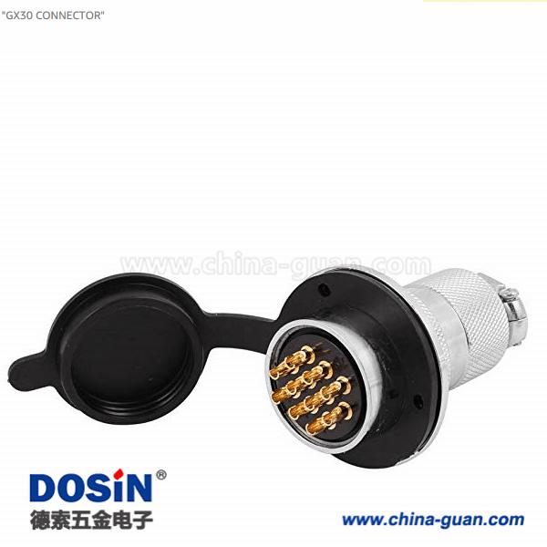 GX30 10芯圆形航空连接器大圆盘安装插头接线航空插头插座