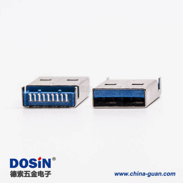 usb3.0公头type a直式SMT沉板式接PCB板