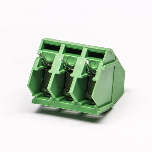 接线端子PCB 2芯直式绿色螺钉式端子连接器