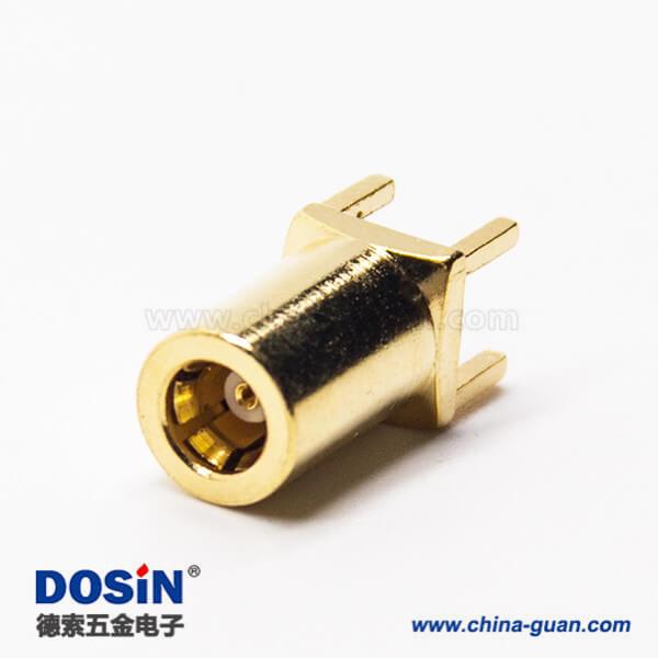 射频连接器mcx母头直式镀金插孔接PCB板