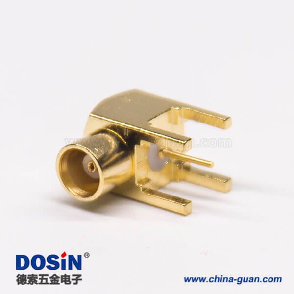 mcx母头连接器插板接PCB板弯式镀金