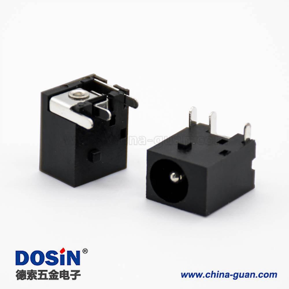 直流电源座公头插孔贴片焊接弯式不带屏蔽DC插座