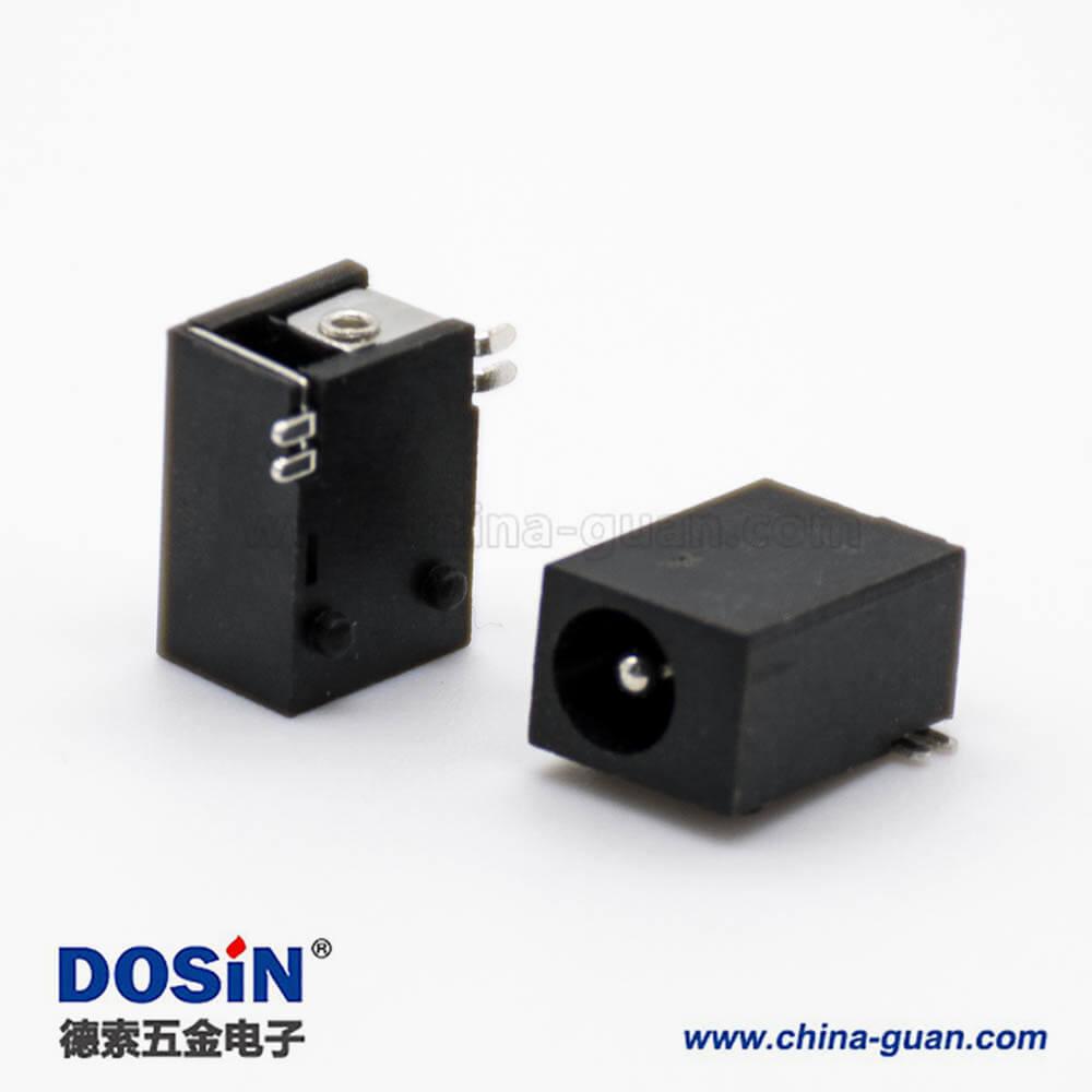 贴片DC电源插座3.5*1.3MM公头不带屏蔽平行贴板贴片焊接连接器