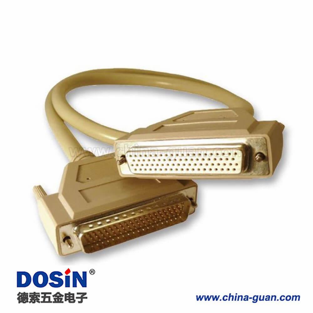 连接线HDB78针直公头转母头直连接线1米
