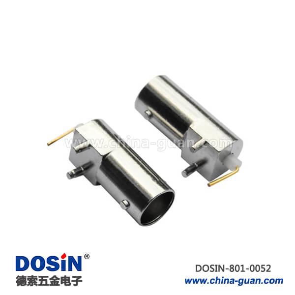 bnc连接头弯式母头2脚射频同轴连接器接PCB板端座