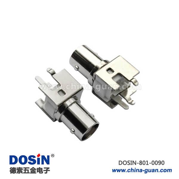 bnc头子180度50欧姆母头射频同轴连接器PCB板