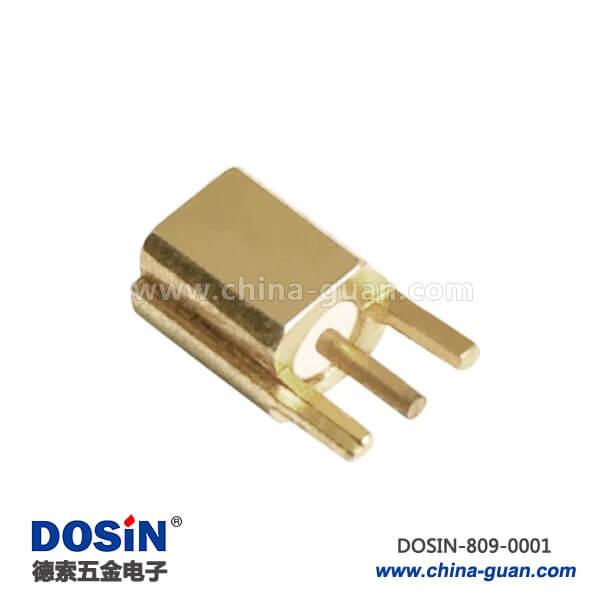 优质射频同轴连接器直式母头2角PCB板插座板端MMCX接头