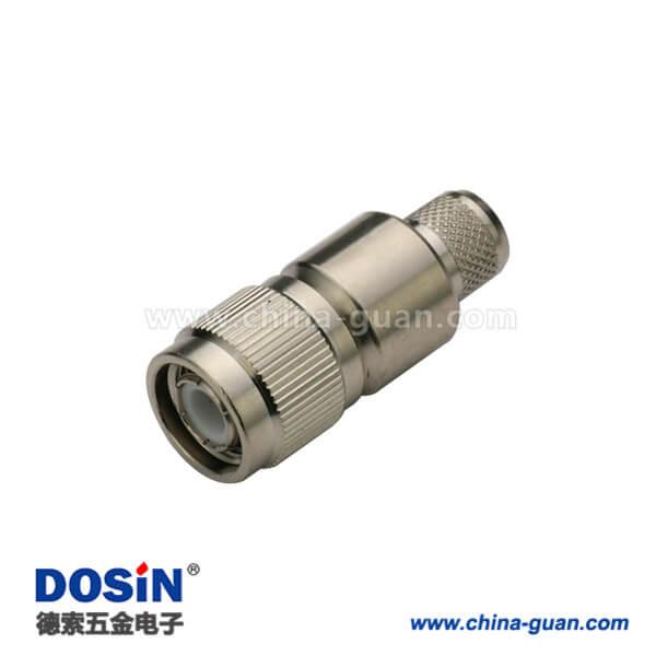 tnc连接器直式压接公头同轴线缆接线LMR400,RG8,213