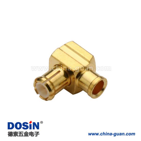 mcx连接器焊接弯式接线UT047同轴电缆接头