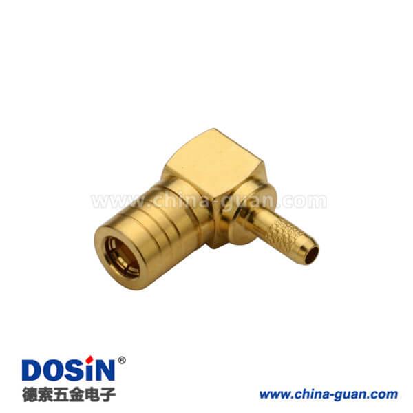 smb连接器弯式压接公头同轴线缆RG178