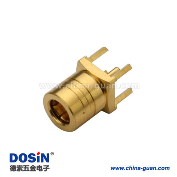 smb镀金直插式公头pcb射频连接器电路板