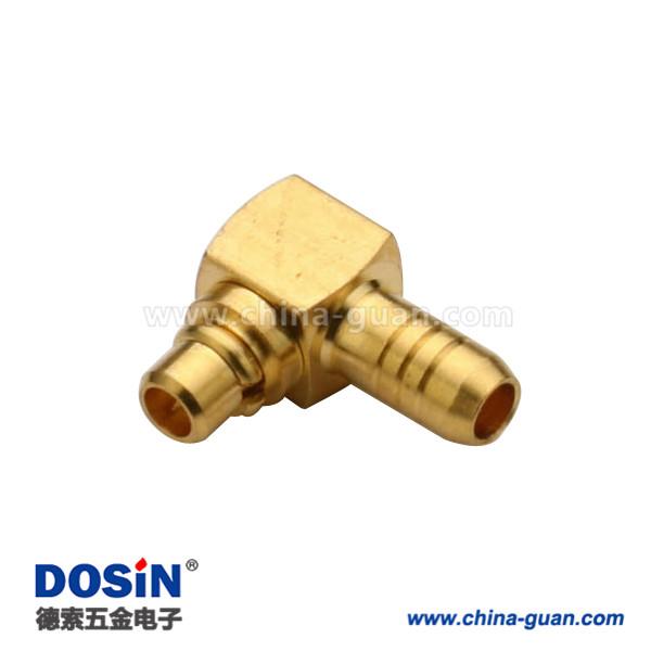 mmcx连接器弯式压接公头同轴线缆RG178B/U