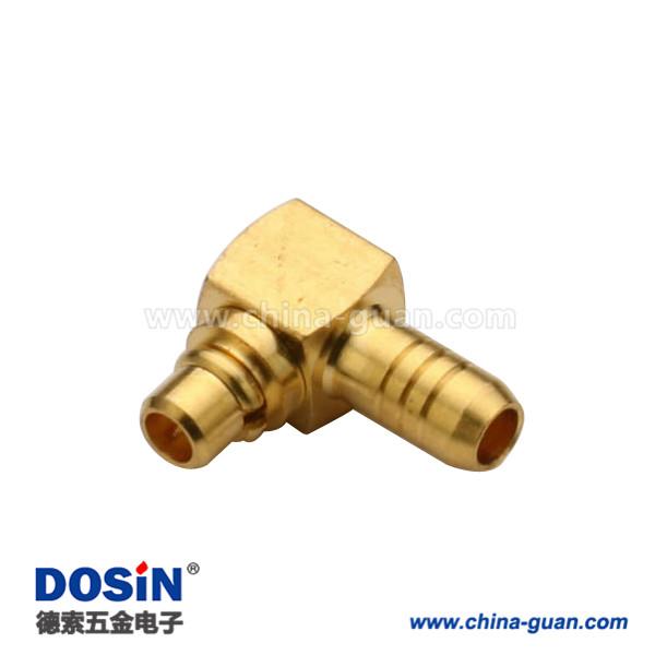 mmcx反极插头弯式压接线缆RG316同轴连接器