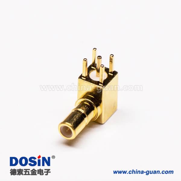 SSMB母头连接器RF连接器PCB板端弯插
