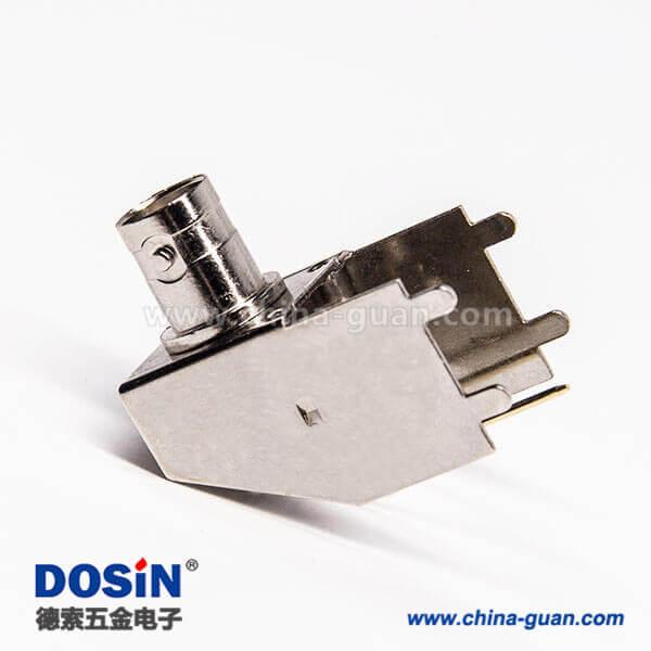 bnc母接口弯式90度插PCB板