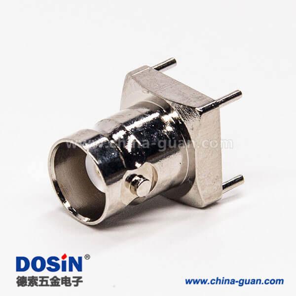 bnc连接器插板弯式180度母头接PCB板