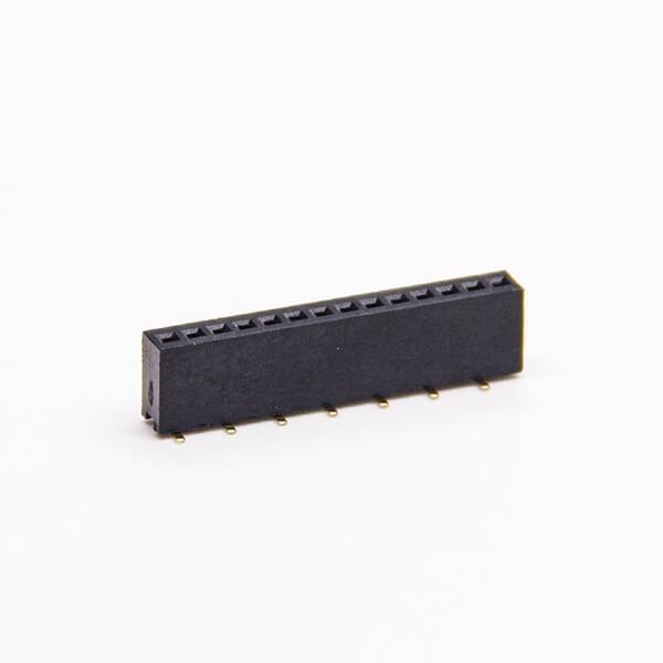 单排排母10pin直式180度SMT贴板