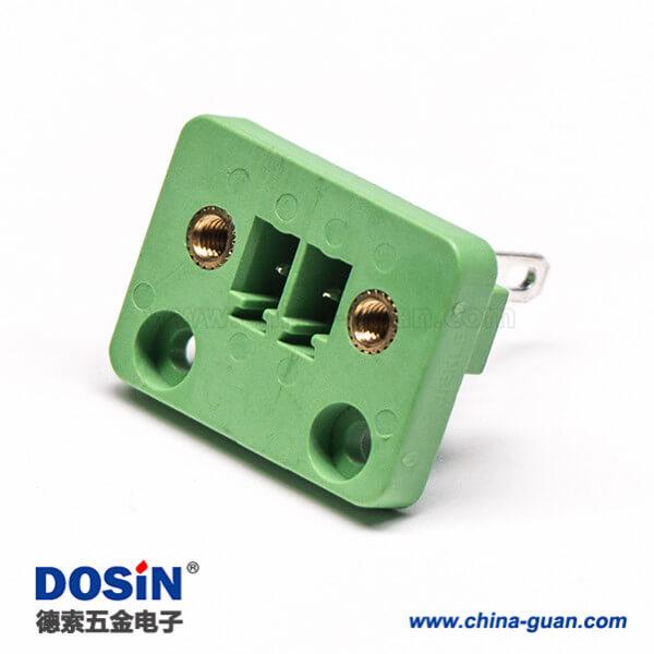 2芯接线端子带耳朵带法兰 插拔式 PCB接线端子 2-24p 铜环保