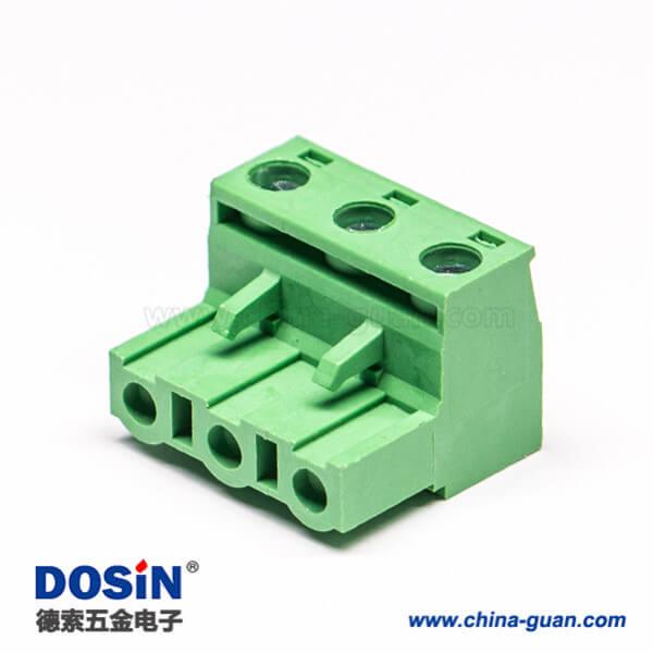 绿色端子插头插拔式接线端子绿色带螺钉弯式