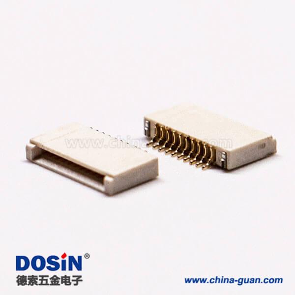 fpc插座10针0.5mm前掀盖式下接触1.5H板端