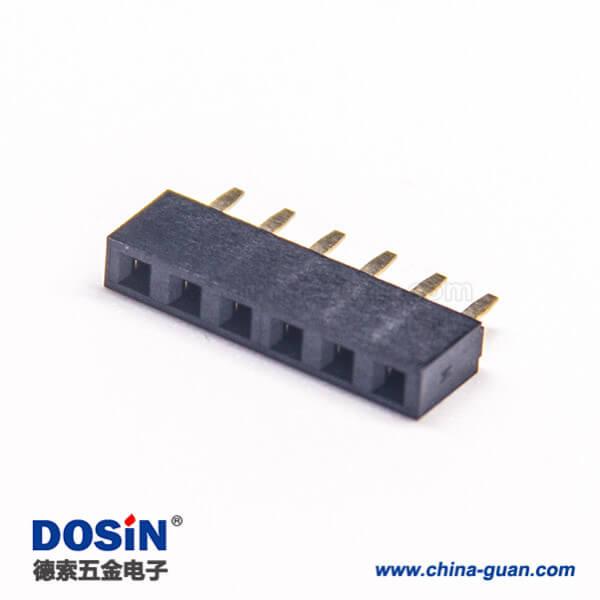 排母2.54 180度单排穿孔塑高5.0mm 10pcs