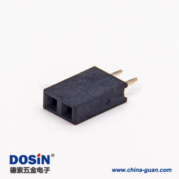 2孔直式排母单排间距2.54mm直插式连接器