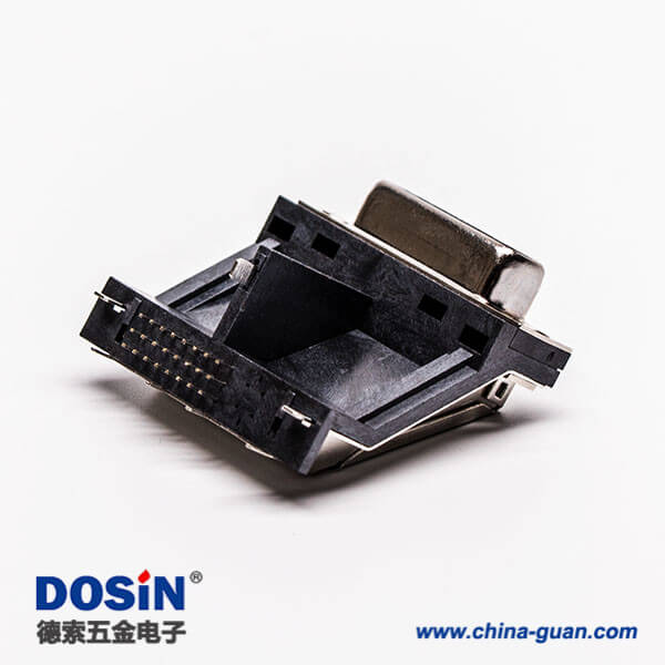 显示器接口dvi母头架高居中塑料支架平口带鱼叉接PCB板